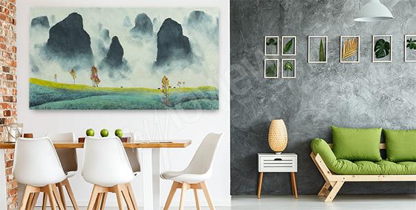 Obraz z krajobrazem Chin