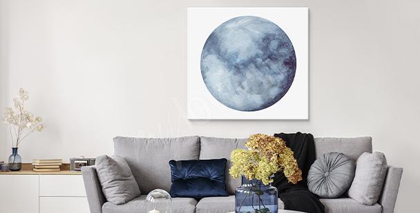 Obraz z księżycem