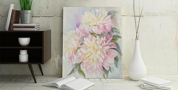 Obraz z kwiatami do przedpokoju