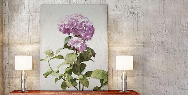 Obraz z kwitnącymi kwiatami