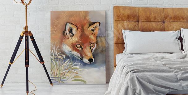 Obraz z lisem do sypialni