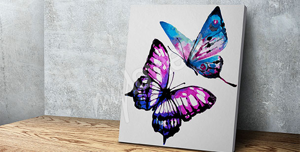 Obraz z motylami