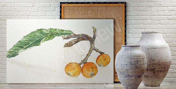 Obraz z owocami jarzębiny