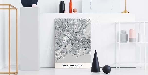 Obraz z planem miasta