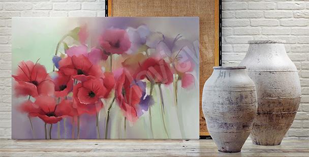 Obraz z polnymi kwiatami