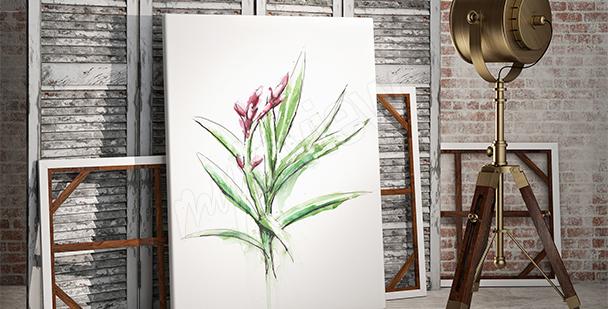 Obraz z rośliną w stylu minimal