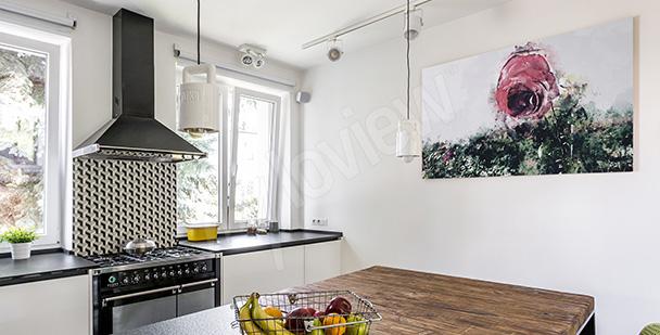 Obraz z różą do kuchni