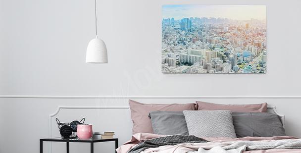 Obraz z widokiem na panoramę miasta