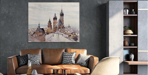 Obraz industrialny widok miasta