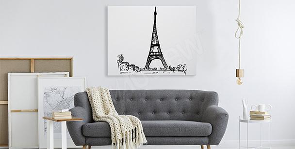 Obraz z Wieżą Eiffla