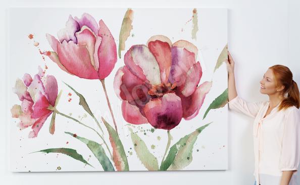 Obraz z wiosennymi tulipanami