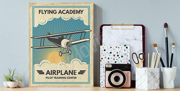 Obraz z wizerunkiem samolotu