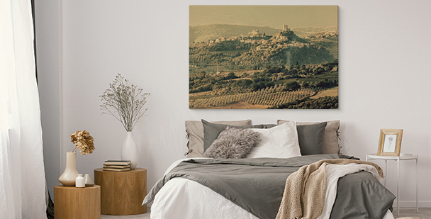 Obraz z włoskim krajobrazem