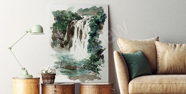 Obraz z wodospadem do salonu