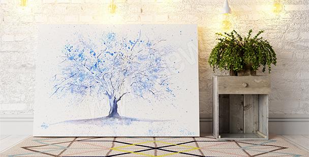 Obraz z zimowym drzewem