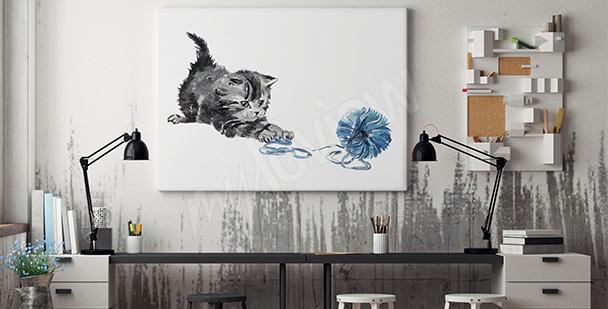 Obrazy śmieszne koty • Obrazy na ścianę | myloview.pl