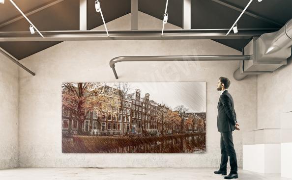 Obraz zabytkowa zabudowa Amsterdamu