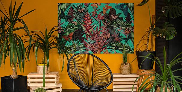 Obraz zieleń w dżungli