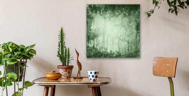 Obraz zielony gaj