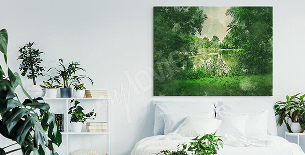 Obraz zielony park