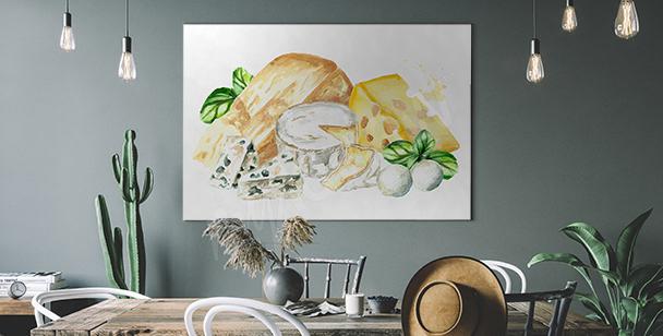 Obraz zioła i ser