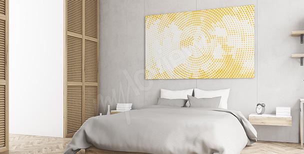 Obraz żółte kropki do sypialni