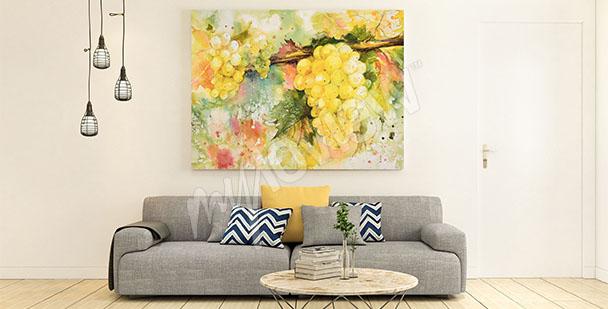 Obraz żółte winogrona