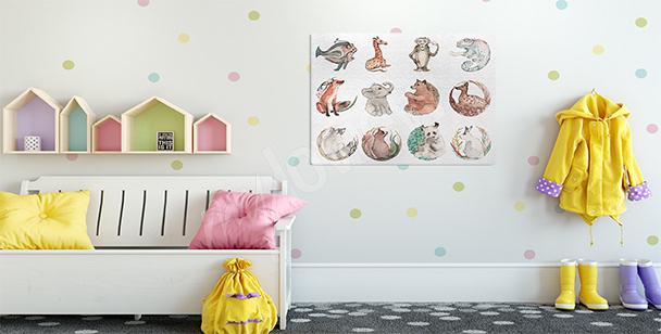 Obraz zwierzęta do pokoju dziecka