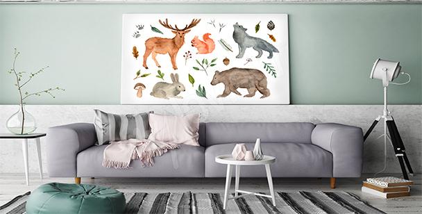 Obraz zwierzęta leśne