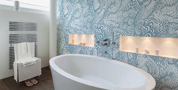 Ornamentalna tapeta wodospad