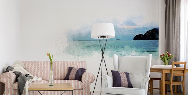 Panoramiczna naklejka morze