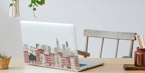 Panoramiczna naklejka na laptopa
