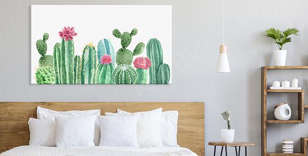 Pastelowy obraz floral style