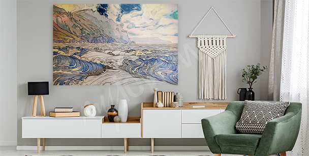 Pastelowy obraz morze