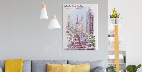 Pastelowy obraz Nowy Jork