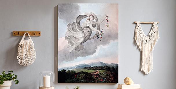 Pastelowy obraz z aniołem