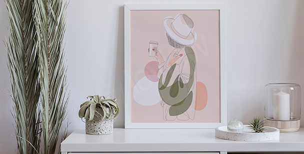 Pastelowy plakat do sypialni