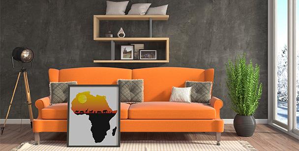 Plakat afrykański zachód słońca