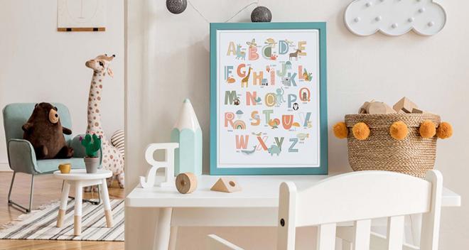 Plakat alfabet - sprawdź top X propozycji, które pasują do każdego pomieszczenia