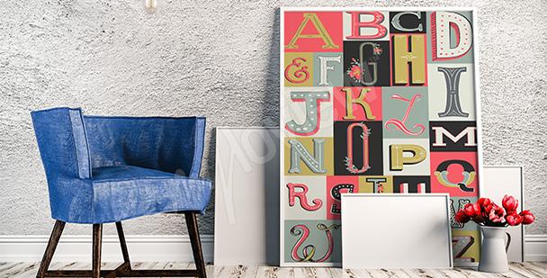 Plakat alfabet vintage