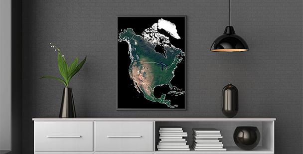 Plakat Ameryka Północa