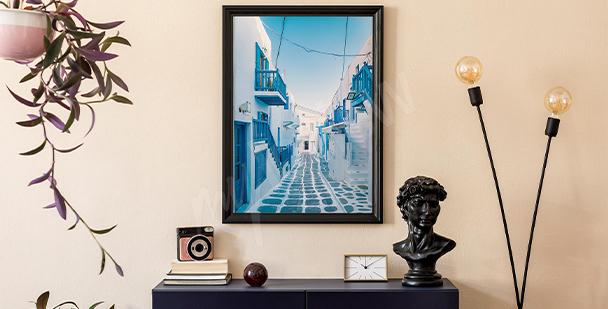 Plakat architektura na Mykonos