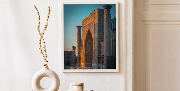 Plakat architektura w Uzbekistanie