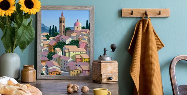 Plakat architektura włoska