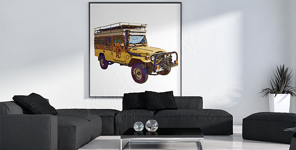 Plakat auto do salonu