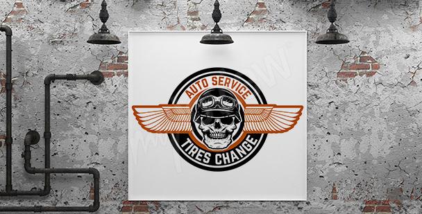 Plakat autoserwis do garażu