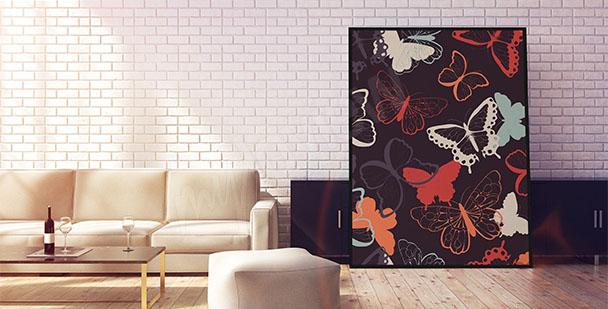 Plakat barwne motyle
