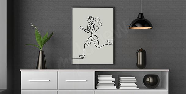 Plakat biegaczka olimpijska