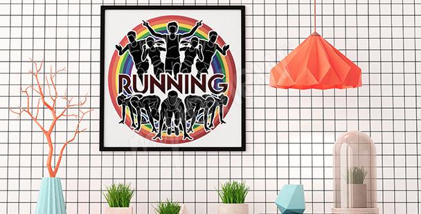 Plakat bieganie retro