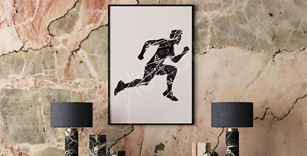 Plakat bieganie styl minimalistyczny